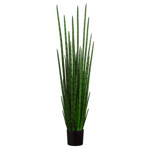 """Set of 2 - 63"""" Artificial Snake Plant with 31 Lvs. in Plastic Pot"""