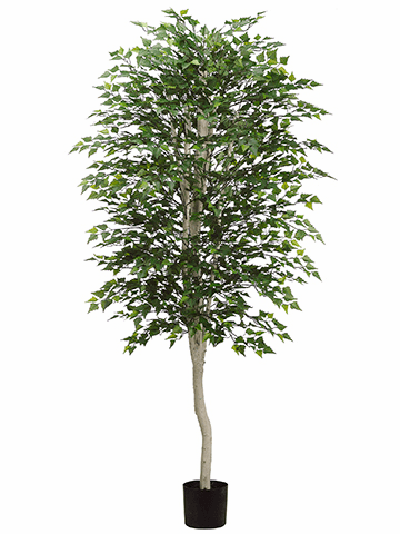 Set of 2 - 7' Artificial Birch Trees