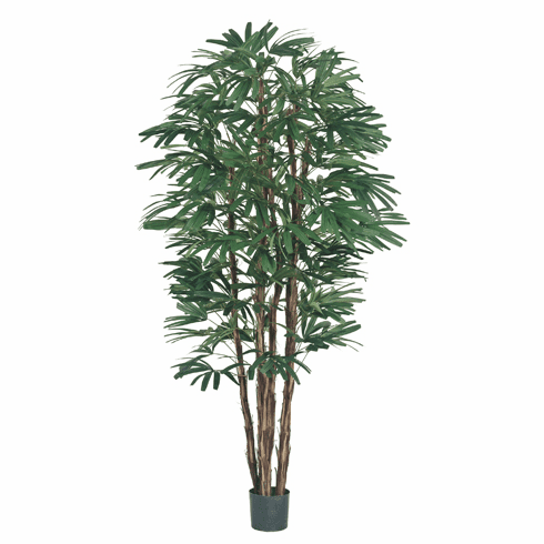 Set of 2 - 7' Raphis Artificial Palm Trees