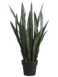 """Set of 2 - Artificial Agave Sansevieria Plants - 35"""" Tall"""