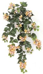 """Set of 4 - 36"""" Artificial Outdoor Bougainvillea Flowers - UV Infused Peach"""