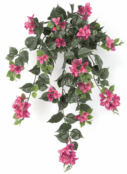 "Set of 4 - 36"" Artificial Outdoor Bougainvillea Flowers - UV Infused Lavender/Lilac"