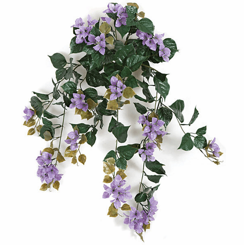 "Set of 4 - 36"" Artificial Outdoor Bougainvillea Flowers - UV Infused Purple"