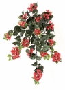 """Set of 4 - 36"""" Outdoor Artificial Bougainvillea Flowers - UV Infused Red/Rust"""