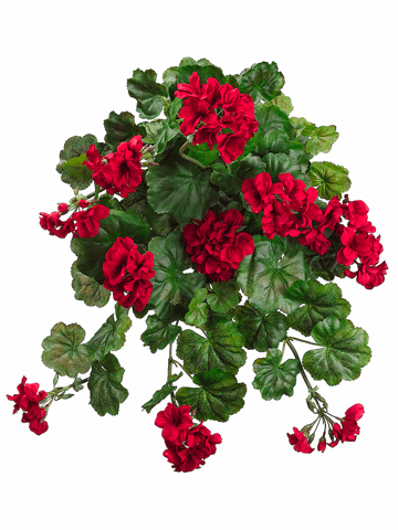 "Set of 6 - 32"" Water Resistant Artificial Geranium Silk Flower Bushes"