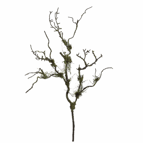 "Set of 6 - 36"" Artificial Moss Twig Branches"