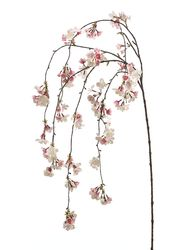 """Set of 6 - 58"""" Artificial Silk Cherry Blossom Hanging Spray (Shown in Pink)"""