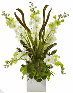 "Silk Flower Arrangements - (26"" + Height)"