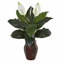 "31"" Spathifyllum Artificial Plant in Decorative Planter"