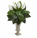 "26"" Spathifyllum Artificial Plant in Sand Colored Urn"
