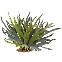 "21"" Artificial Staghorn Fern Bush (Set of 2) - Non Potted"