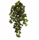 """31"""" Artificial Strawberry Hanging Bush with Berry (Set of 2) - Non Potted"""