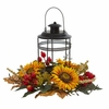 "18"" Sunflower Berry Artificial Arrangement Candelabrum"