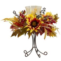 "16"" Sunflower Candelabrum Artificial Arrangement"