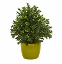 "17"" Sweet Grass Artificial Plant in Green Vase"