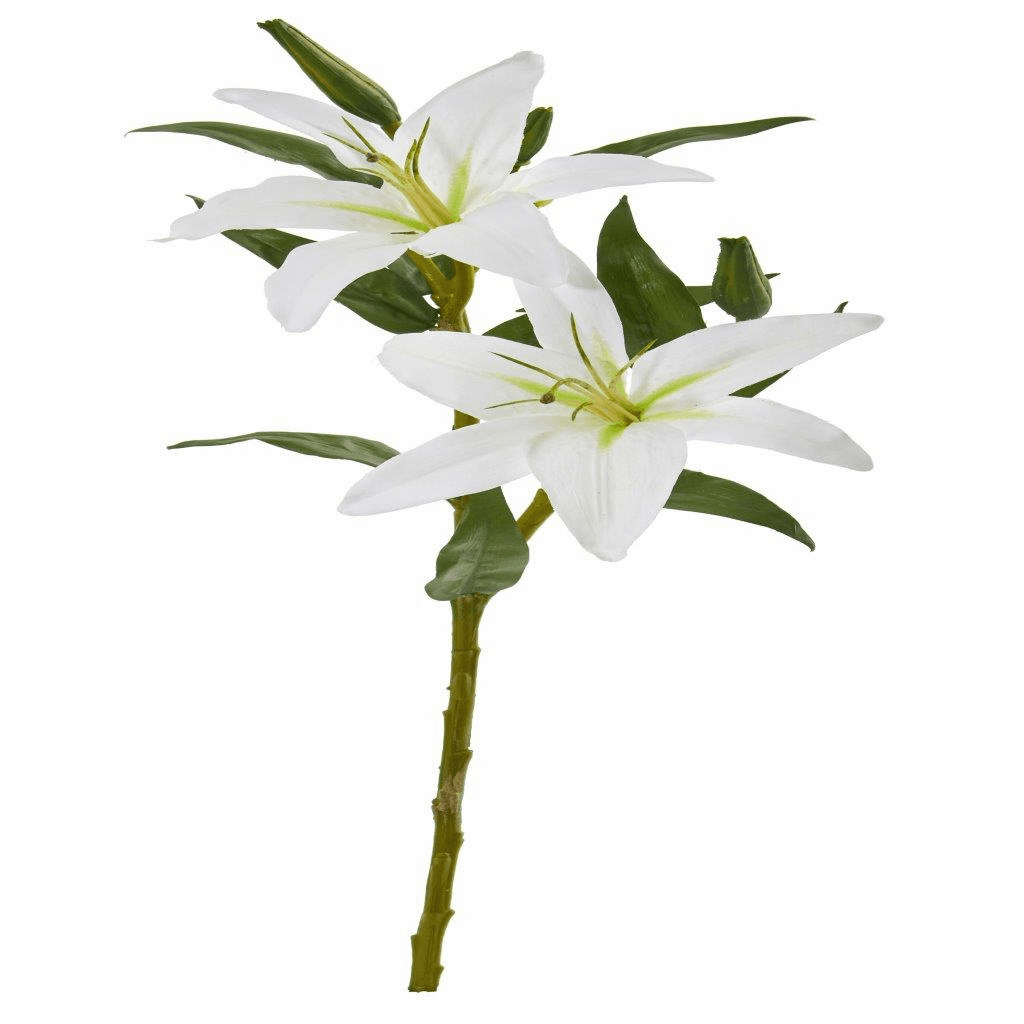 24� White Lily Artificial Flower (Set of 6)