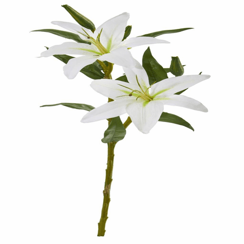 "24"" White Lily Artificial Flower (Set of 6)"