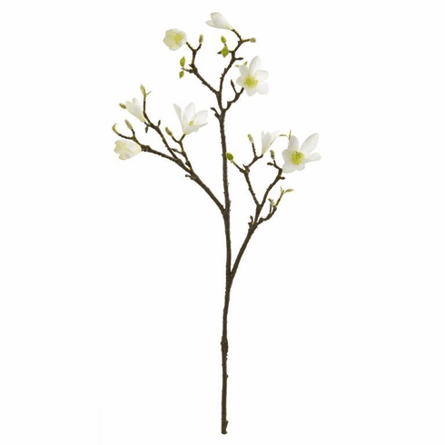 "34"" White Magnolia Artificial Flower (Set of 6)"