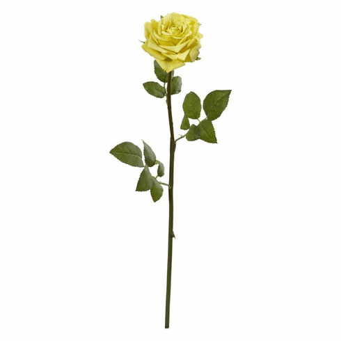 "Yellow 19"" Rose Spray Artificial Flower (Set of 12)"