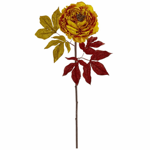 """30"""" Yellow Peony Artificial Flower (Set of 6)"""