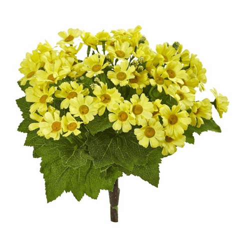 Yellow Daisy Bush Artificial Flower (Set of 6)