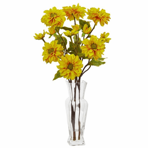 Yellow Zinnia Artificial Arrangement