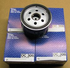 4 Pack Of New OEM Mahle Oil Filters W/O Crush Washer For All R1200,GS/ RT/ ST/ S/ R (non Liquid Cooled), K1200S/ R/ GT (2005 On) , F800/650 (Twins),  K1600GT/GTL  & F650GS twins (2009 on).