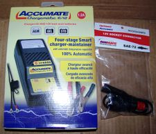 Accumate Automatic 12V/6V Battery Charger/BMW Plug Adaptor Kit