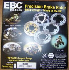 Brand New EBC Stainless Steel Front Brake Rotor, MD834