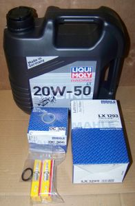Complete 12/24K Mile Super Maintenance Kit With Oil (Mineral) For All F650/ 700/ 800 Twins W/ Early Spec Oil Filter