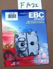 FRONT: EBC FA22 Brake Pads For 1 Caliper
