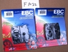FRONT: EBC FA22 Brake Pads For 2 Calipers