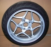 K1200/1300GT, K1200R & R1200R Rear Wheel, 5.5 X17, Silver W/Michelin Pilot Road 2 Tire