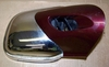 K1200LT Complete Right Side Mirror, Canyon Red With Chrome
