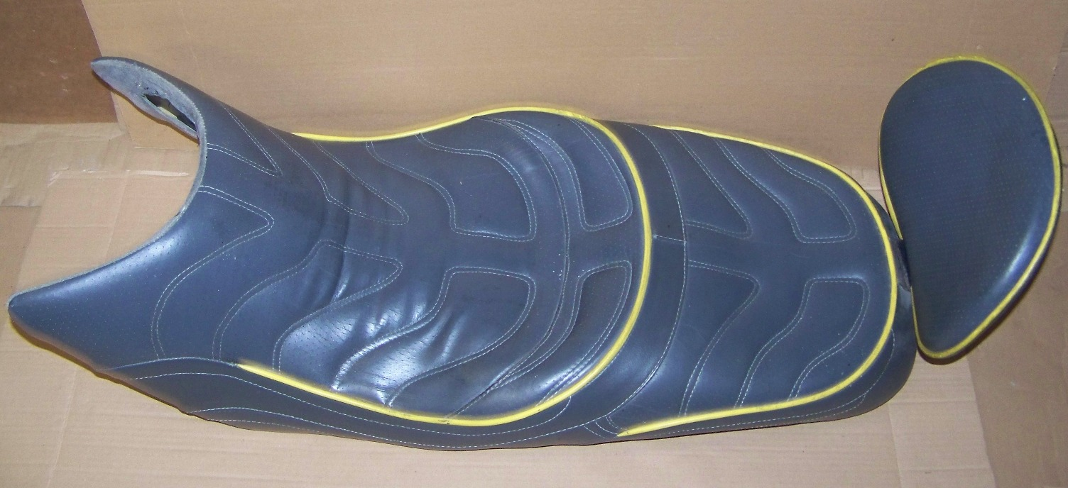 K1200RS Corbin Seat, Gray Leather W/Yellow Welt
