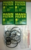 New 4-pack Of Mann Oil Filters W/Crush Washers & O-rings For All Carburated F650 Bikes