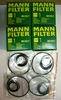New 4-pack Of Mann Oil Filters W/Crush Washers & O-rings For All Fuel Injected F650 & G650 Bikes
