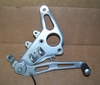 R1150R/ RS & Rockster Complete Right Front Footpeg Mount/Peg/Brake Pedal Assembly, Silver
