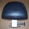 R1200C Flip Up Backrest Assembly, Complete, Carbon Look Vinyl W/ Frost Blue Trim