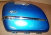 R1200CL Left Saddlebag Lid, Capri Blue W/Chrome Trim