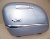 R1200CL Left Saddlebag Lid, Silver W/Chrome Trim