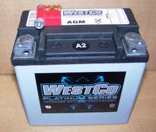 Westco Platinum Series AGM Sealed Battery, WCP14, R1200GS/GS ADV/ ST/ R/ S, R1200GSW, R1200R(2015 & Later), R1200RS, R9T, K1200/1300S  /R/R-Sport & F800 Bikes (all)