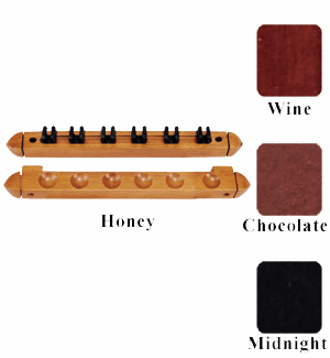 6 Cue Wall Rack/2 pc Clips