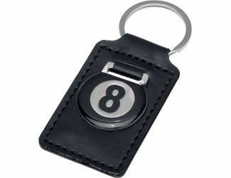 8-Ball Leather Key Holder