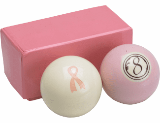 Breast Cancer Awareness Pool Ball Set