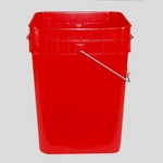 4 Gallon Pail - red