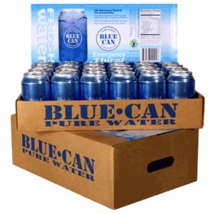 Blue Can 50 Year Canned Water, 24 can case