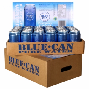 50 year Shelf Life Canned Water - 4 month supply<br>commercial truck freight curbside delivery