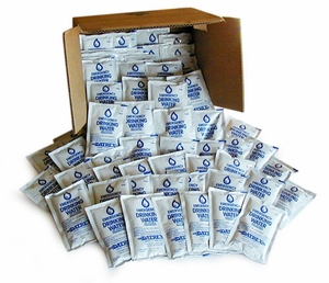 Emergency Water Pouches - 10 person supply - CASE - SOLD OUT