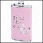 6oz Heels Girls Nite Out Stainless Steel Flask with Pink Wrap
